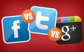 Twitter vs Facebook vs Google+