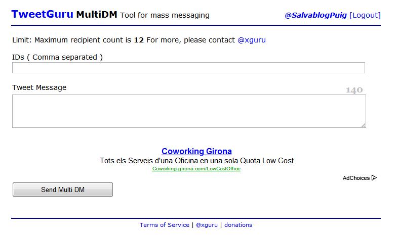 Multi DM - Envia Mensajes Directos a varias personas