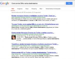 como enviar dm a varios destinatarios - Buscar con Google