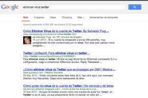 eliminar virus twitter - Buscar con Google