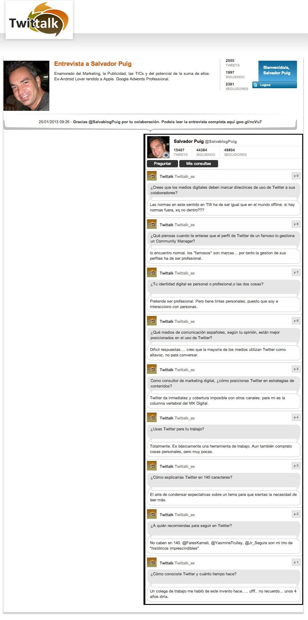 Entrevista Twittalk Salvador Puig